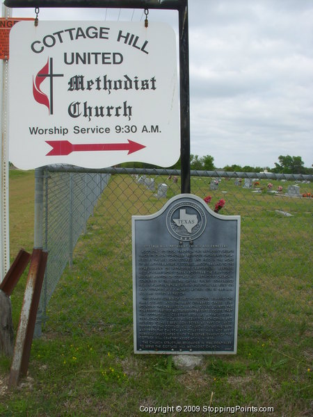 Cottage Hill United Methodist Church and Historical Marker