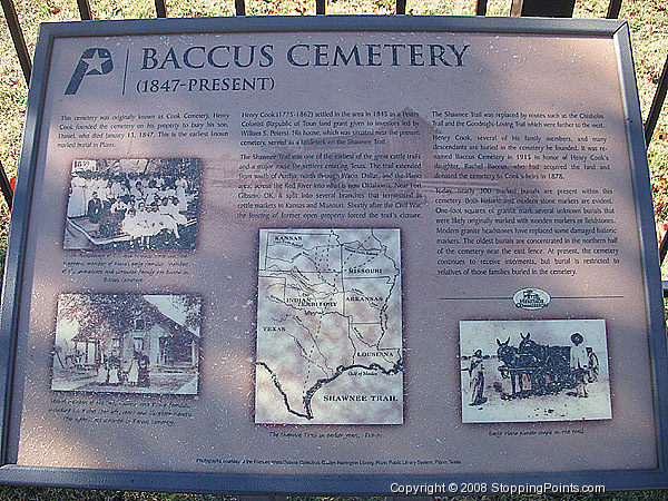 Baccus Cemetery Info