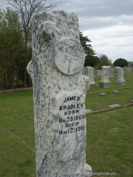 James Bradley - Woodsmen of the World Gravestone
