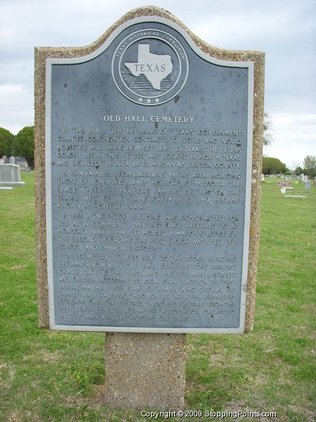 Old Hall Cemetery Historical Marker