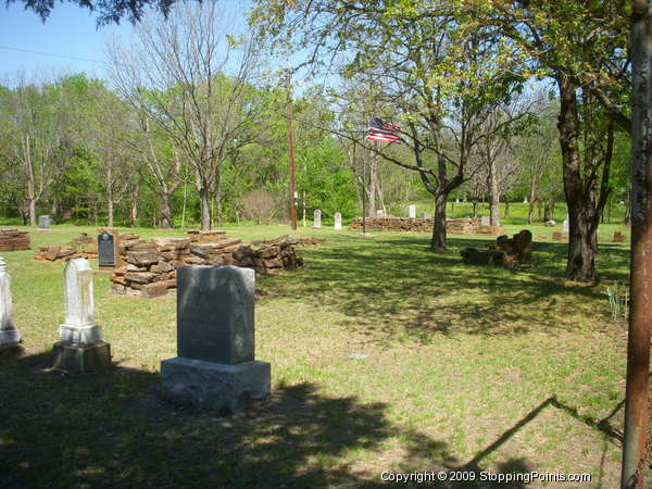 Pioneer Stone Burial Cairns at Mount Gilead Cemetery