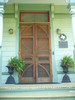 Carved Front Doors, Wood-Hughes Home