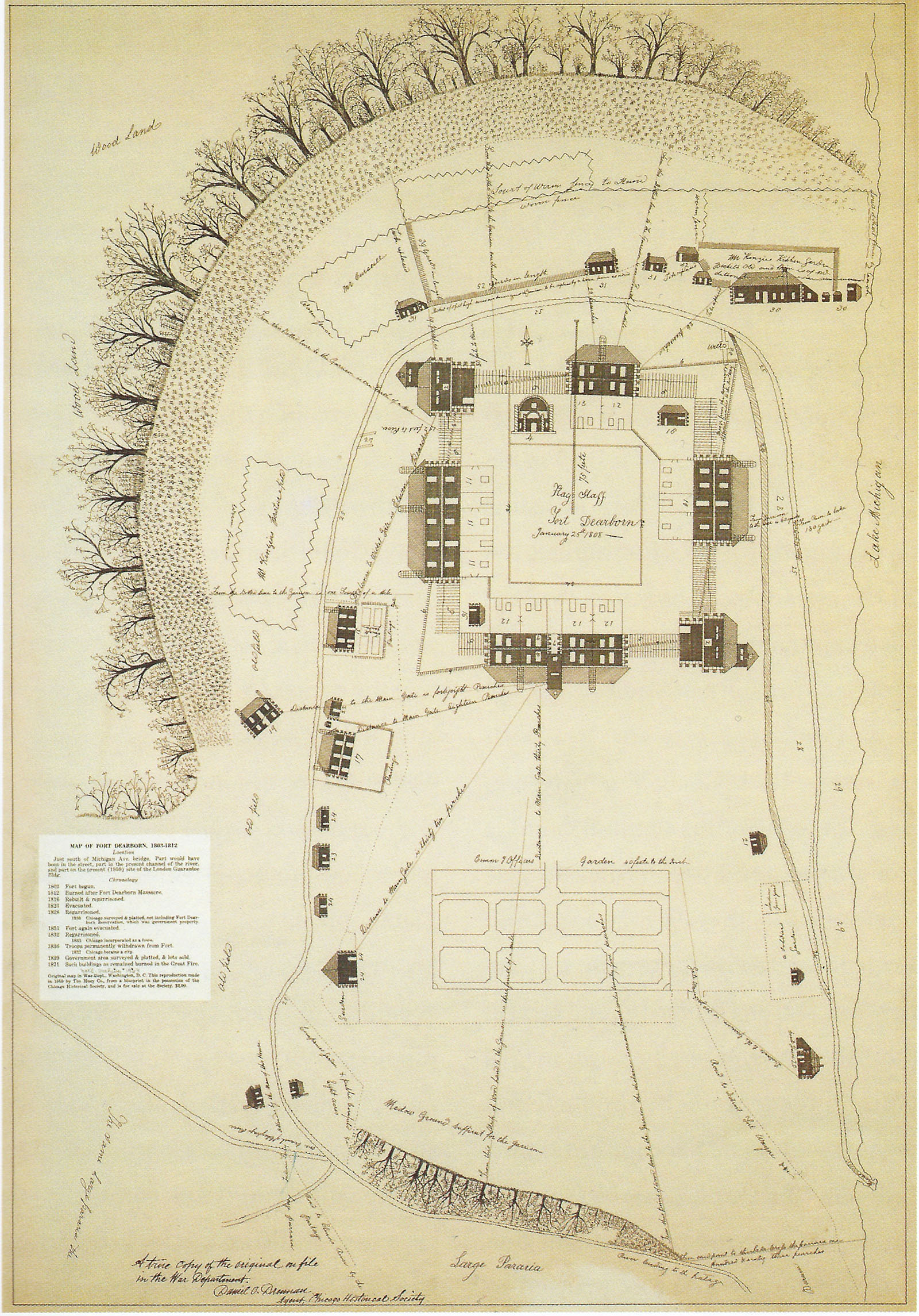 Plan of Fort Dearborn