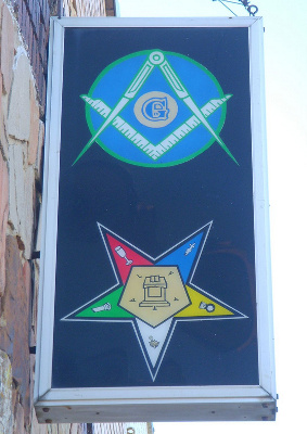 Masonic Lodge and Eastern Star Sign, Texas