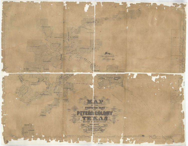 Peters Colony Map