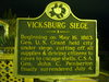 Vicksburg Siege Historical Marker