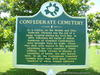Confederate Cemetery Historical Marker