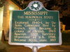 Mississippi The Magnolia State Historical Marker in Vicksburg