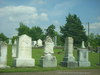 Gravestones in Odd Fellows Cemetery