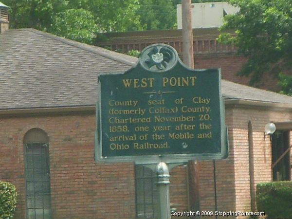 West Point Historical Marker
