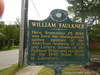 Historical Marker for the Birthplace of William Faulkner