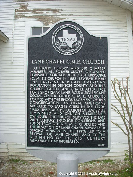 Lane Chapel Church Historical Marker