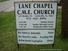 Lane Chapel C.M.E. Church Sign