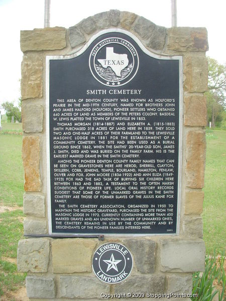 Smith Cemetery Historical Marker