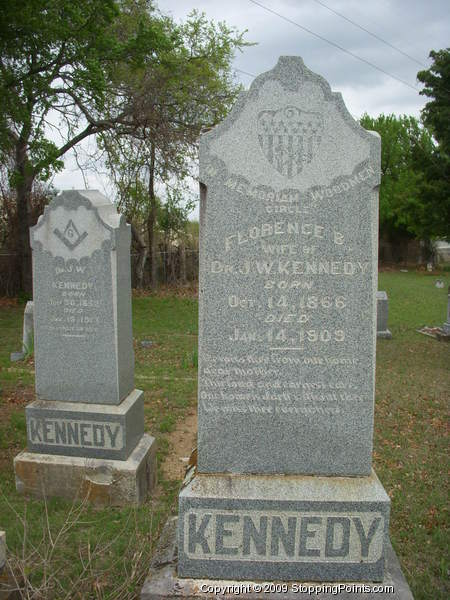 Kennedy Gravestones, Smith Cemetery