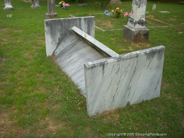 Unusual Vault in Shiloh Cemetery