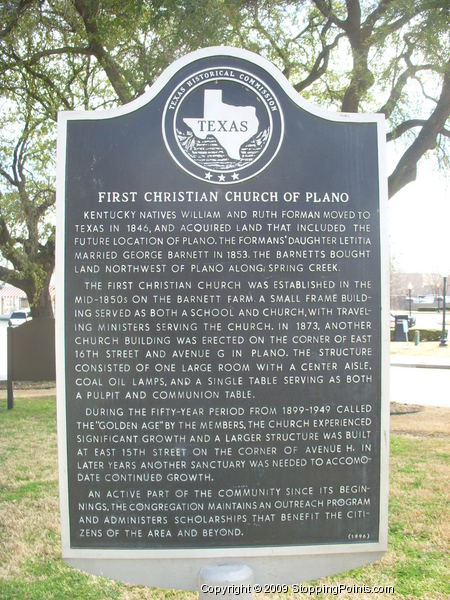 First Christian Church Historical Marker Plano