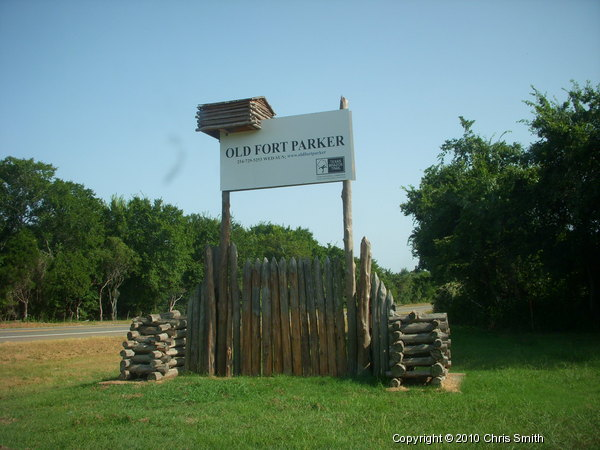 Sign of Fort Parker