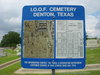 International Order of Odd Fellows Cemetery Map in Denton, Tx