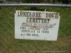 Lonesome Dove Cemetery Sign