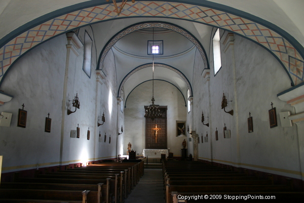 Nave, interior of San Jose Mission