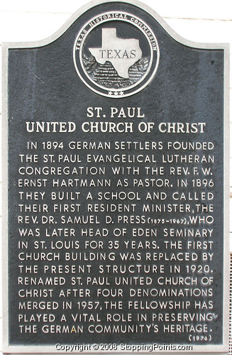 St Paul United Church Of Christ Historical Marker Sign Photo