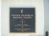 Ponder Memorial Prayer Chapel Plaque