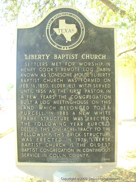 Liberty Baptist Church Historical Marker