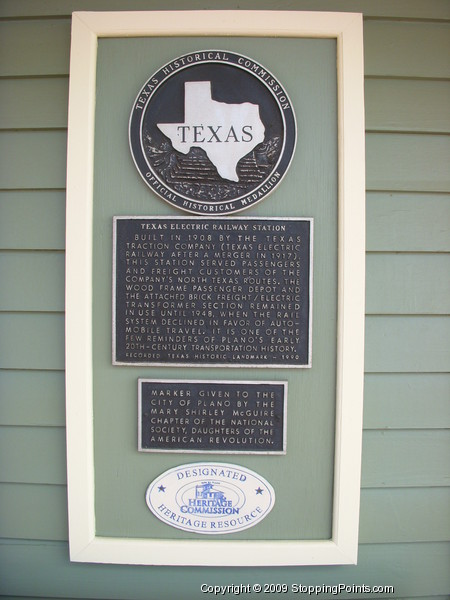 Texas Electric Railway Station Historical Marker