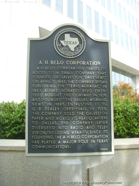 A.H. Belo Corporation Historical Marker