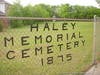 Haley Memorial Cemetery, 1875