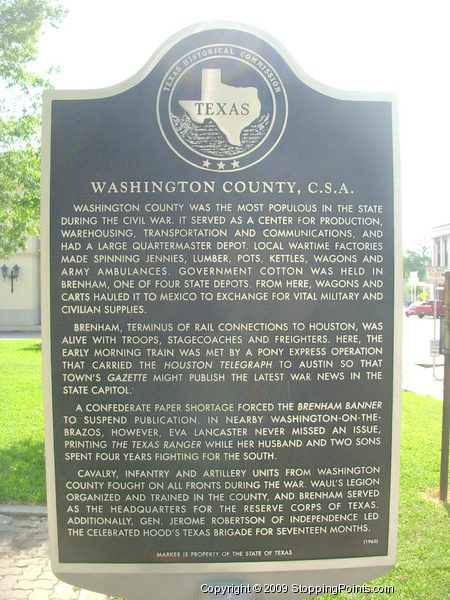 Washington County C.S.A. Historical Marker