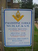 Palestine Masonic Lodge sign